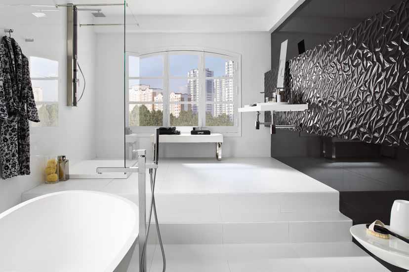 Porcelanosa marmi blanco e for Carrelage salle de bain porcelanosa
