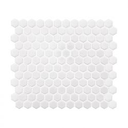 Dunin Arabesco Mini Hexagon White 260x300