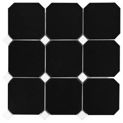 Dunin Black&White Granite Black Octagon 100 305x305