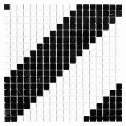 Dunin Black&White Pure B&W Diagonal 15 305x305