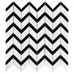 Dunin Black&White Pure White Chevron Mix 310x305