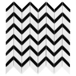 Dunin Black&White Pure White Chevron Mix 310x305