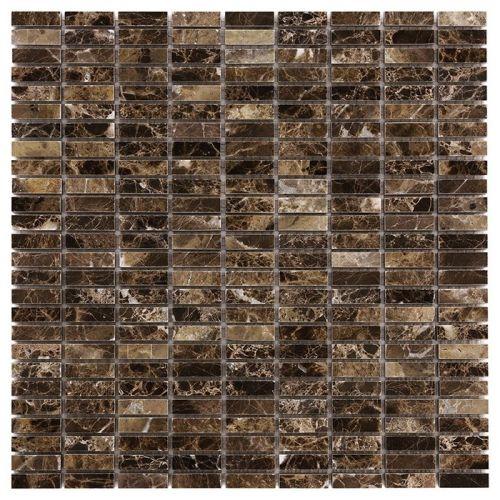 Dunin Travertine + Emperador Block 32 305x305