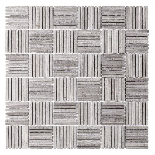 Dunin Woodstone Grey Tatami 48 305x305