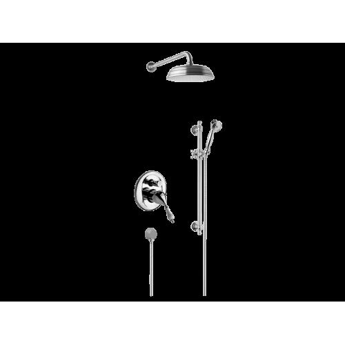 Fromac Kompletny system natryskowy podtynkowy Vara 3856 ( chrom | brąz antyczny )