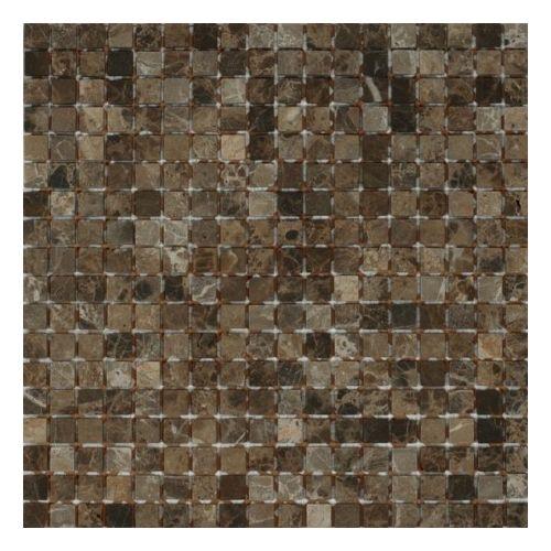Dell Arte Mozaika Marble Black Matt 15x15