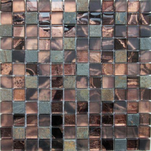 Dell Arte Mozaika Agat Brown 23x23