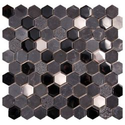 Ceramica Picasa Mozaika Hexagon Black 30x30