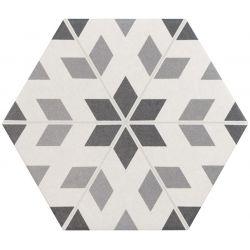 Equipe Hexatile Cement Garden Grey 17.5x20