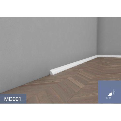 Mardom Premium MD001P Elite Listwa przypodłogowa lakierowana 200x2,1x2,3
