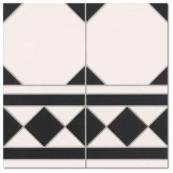Realonda Oxford Negro Cenefa 33,3x33,3
