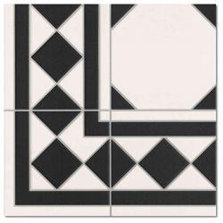 Realonda Oxford Negro Esquina 33,3x33,3