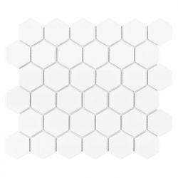 Dunin Hexagon White 51 Matt - 282x271