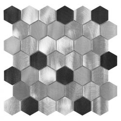 Dunin Metallic Allumi Grey Hexagon MIX 48 - 287x299