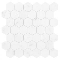 Dunin Carrara White Hexagon 48 - 298x302
