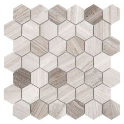 Dunin Woodstone Grey Hexagon 48 - 298x302