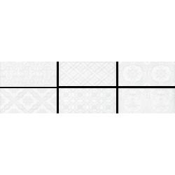 Roca Maiolica White Deco 11x25