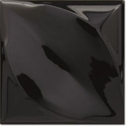 Decus Hoja Negro Brillo 15x15
