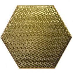 Decus Hexagono Liso Oro 17x15