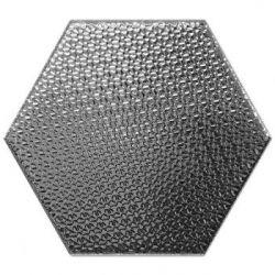 Decus Hexagono Liso Plata 17x15