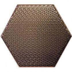 Decus Hexagono Liso Bronce 17x15