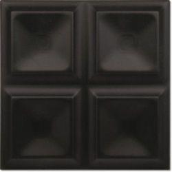 Decus Cubos Negro Mate 20x20