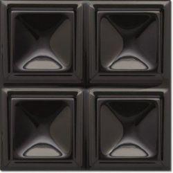 Decus Cubos Negro Brillo 20x20