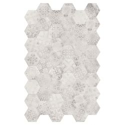 Terratinta Betonaxis Esagona Decor White/Grey TTBAEWGMIX 21x18,2