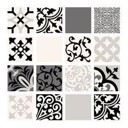 Tubądzin Beat of White Patch A 59,8x59,8 Dekor ścienny 16-elementowy