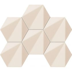 Tubądzin Beat of White Mozaika ścienna hex 28,9x22,11