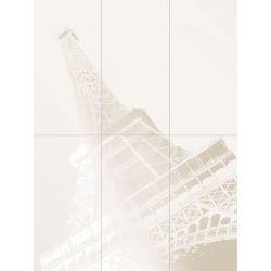Tubądzin By Maciej Zień PARIS - Dekor ścienny 6-elementowy Tour Eiffel 119,8x89,8