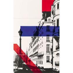 Tubądzin By Maciej Zień PARIS - Dekor ścienny 4-elementowy Trocadero 74,8x119,8
