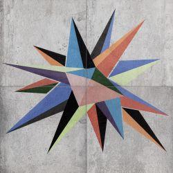Tubądzin By Maciej Zień BERLIN - Dekor ścienny 4-elementowy Tempelhof Stern 119,8x119,8