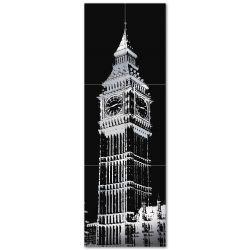 Tubądzin By Maciej Zień BERLIN - Dekor ścienny 6-elementowy Big Ben 2 179,8x59,8