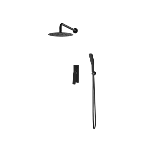 Vedo Desso zestaw natryskowy z deszczownicą 25 cm. kolor czarny mat nr.kat.VBD4223CZ/25CZ