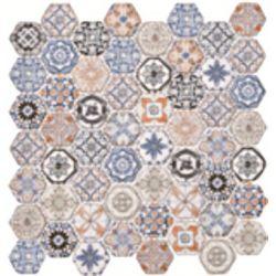 Dell Arte Mozaika HEXAGON COLORI HE-COL 28,5x30