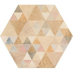 Vives Laverton Hexagono Benenden Multicolor 23x26,6