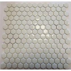 [098043] EL CASA ENAMEL HEXAGON WHITE MIX SOFT/BRILLO 30,8x29,8