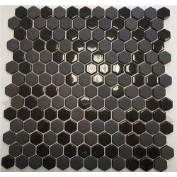 [098045] EL CASA ENAMEL HEXAGON NEGRO MIX SOFT/BRILLO 30,8x29,8