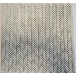 [098047] EL CASA ENAMEL HERRINGBONE WHITE MIX SOFT/BRILLO 28,0x30,3