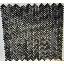 [098053] EL CASA ENAMEL HERRINGBONE NEGRO MIX SOFT/BRILLO 28,0x30,3