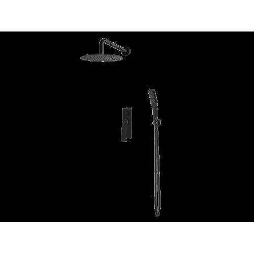 Vedo System natryskowy podtynkowy III DESSO NERO / Nr KAT: VBD4223CZ deszczownica o śr. 300mm