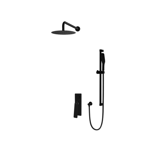 Vedo System natryskowy podtynkowy IV DESSO NERO / Nr KAT: VBD4224CZ deszczownica o śr. 250mm