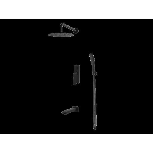 Vedo System wannowo-natr. podtynkowy I DESSO NERO / Nr KAT: VBD4231CZ deszczownica o śr. 250mm