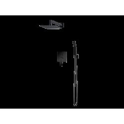 Vedo System natryskowy podtynkowy III SETTE NERO / Nr KAT: VBS7223CZ  deszczownica 300x300mm