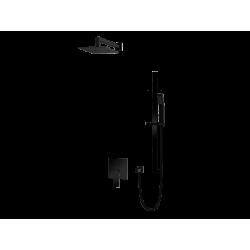 Vedo System natryskowy podtynkowy IV SETTE NERO / Nr KAT: VBS7224C deszczownica o śr. 250mm