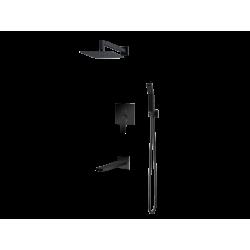 Vedo System wannowo-natryskowy podtynkowy I SETTE NERO / Nr KAT: VBS7231CZ deszczownica 300x300mm