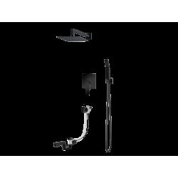 Vedo System wannowo-natr. podtynkowy II SETTE NERO / Nr KAT: VBS7232CZ deszczownica 250x250mm