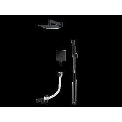 Vedo System wannowo-natr. podtynkowy III SETTE NERO / Nr KAT: VBS7233CZ deszczownica 300x300mm