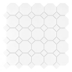 Dunin Arabesco Mini Octagon White 55 matt - 29,5x29,5